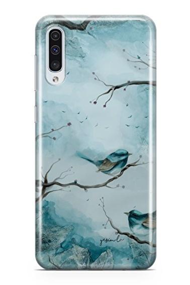 Lopard Samsung Galaxy A50 Kılıf Mavi Kuş Kapak Renkli